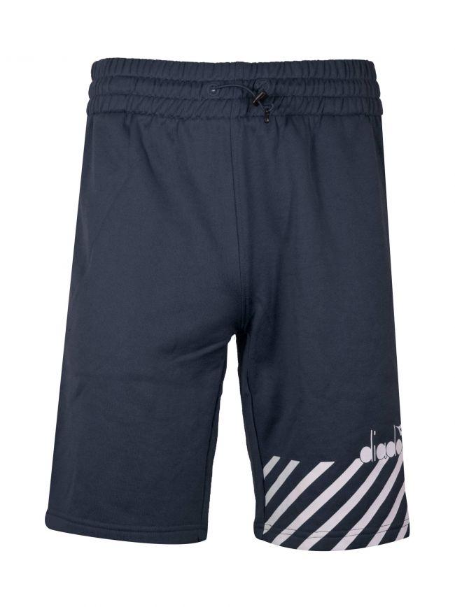 Navy Polyester Shorts