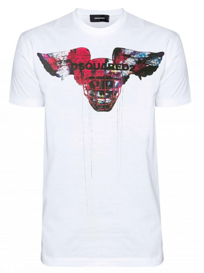 Graphic Mask Logo White T-Shirt