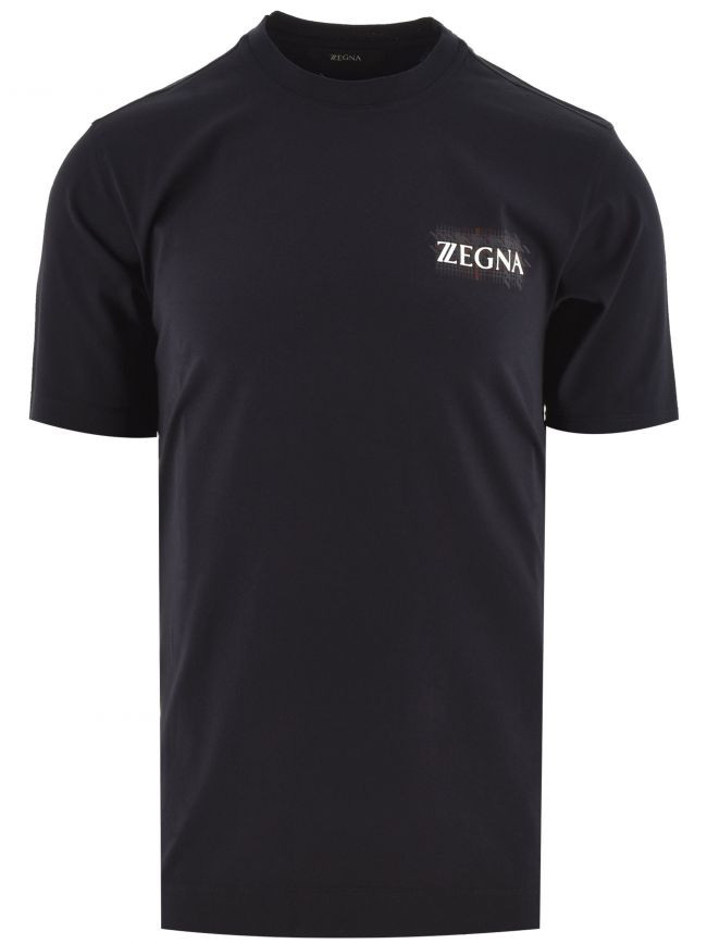 Dark Navy Print Logo T-Shirt