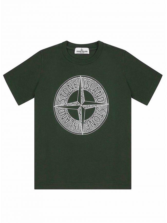 Khaki Printed Logo T-Shirt