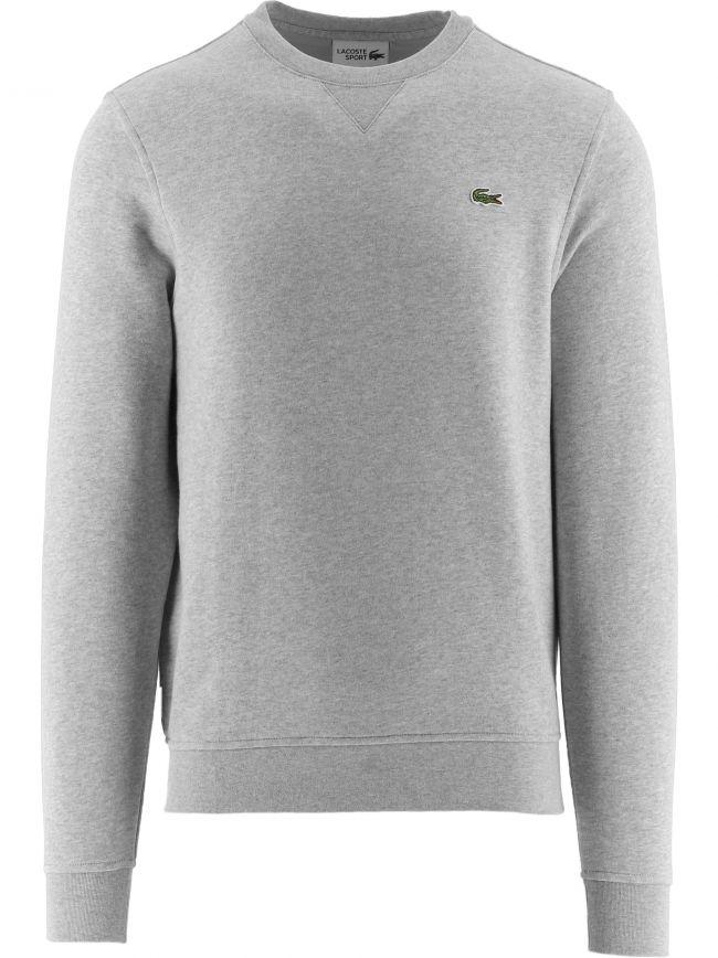 Grey Cotton Blend Fleece Sweatshirt