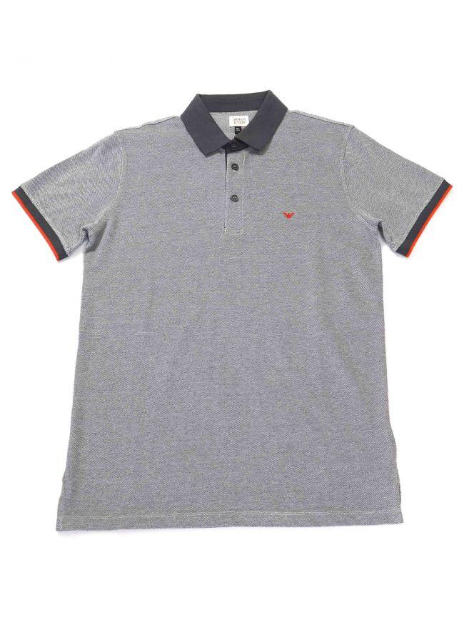 Armani Kids Contrast Grey Polo Shirt