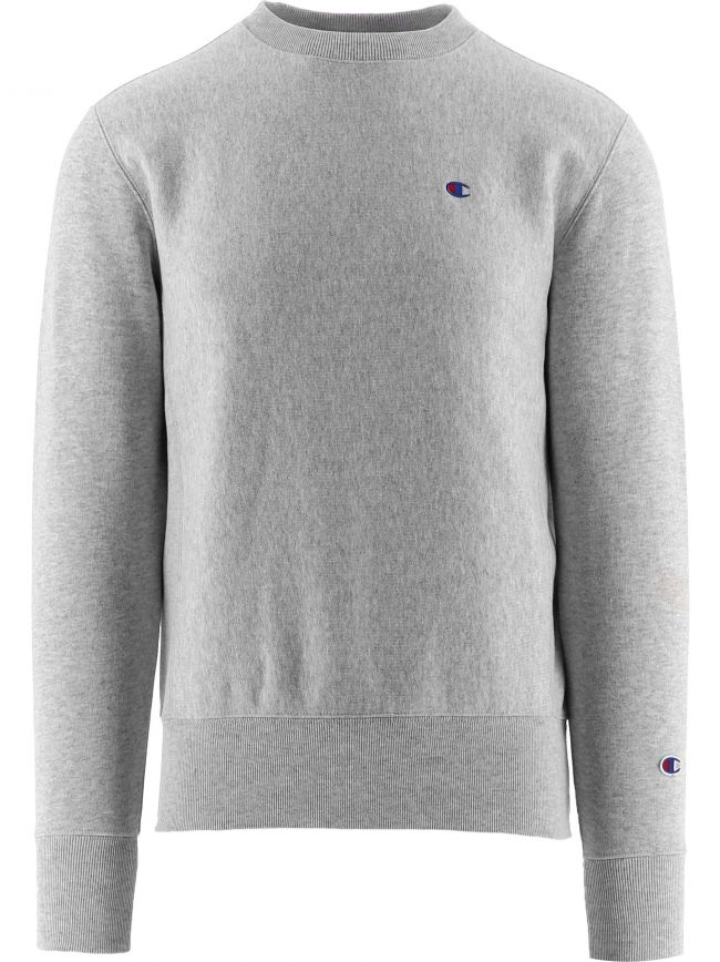 Grey Melange Reverse Weave Logo Sweatshirt