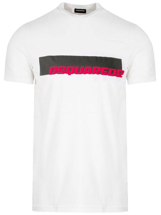 White Print Logo T-Shirt