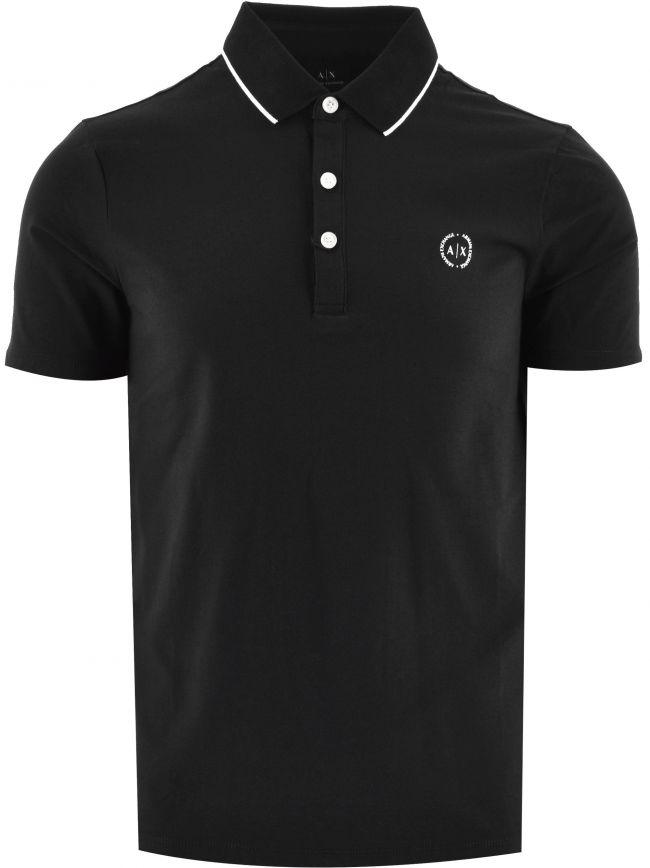 Black Contrast Polo Shirt