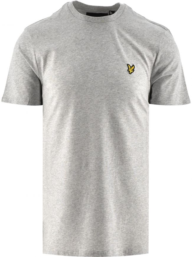 Light Grey Marl Crew Neck T Shirt