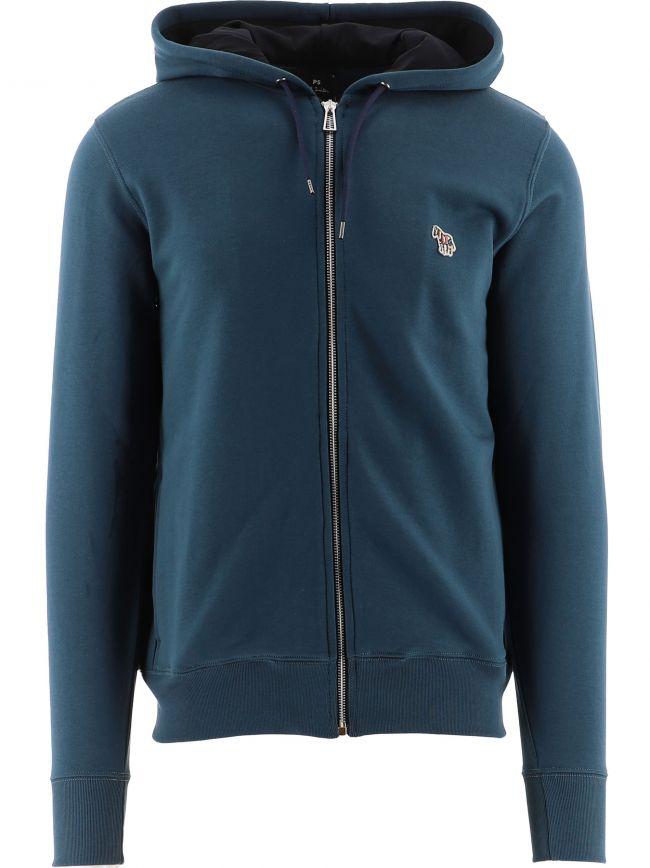 Blue Regular Fit Sweatshirt