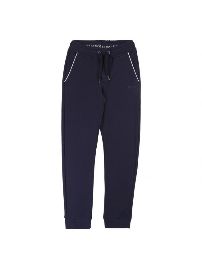 Navy Cotton Tracksuit Pants