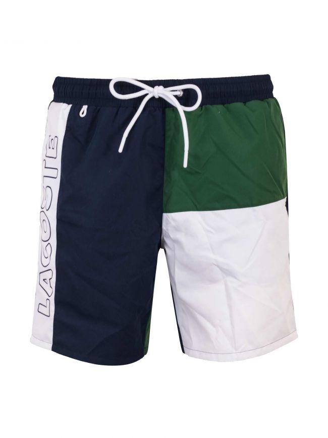 Navy & Green Swim Short
