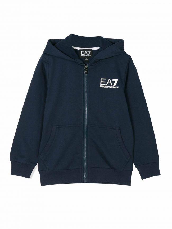 Navy Logo Hooded Sweatshirt