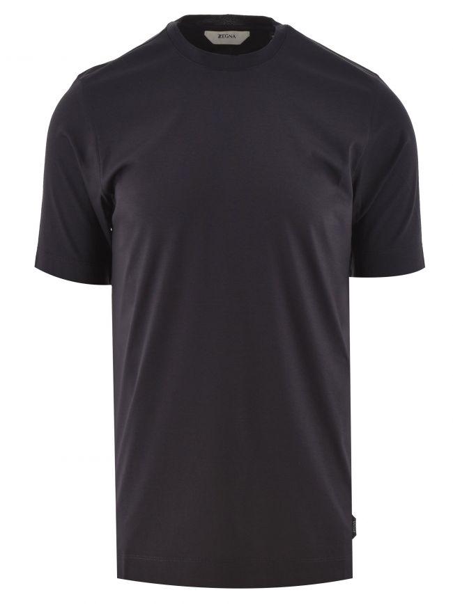 Dark Blue Plain T Shirt