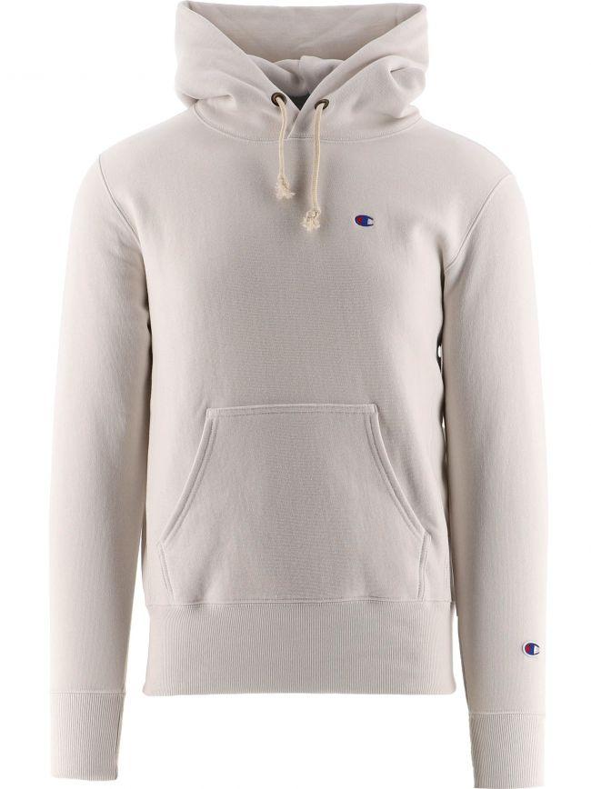Off-White Reverse Weave Hooded Sweatshirt