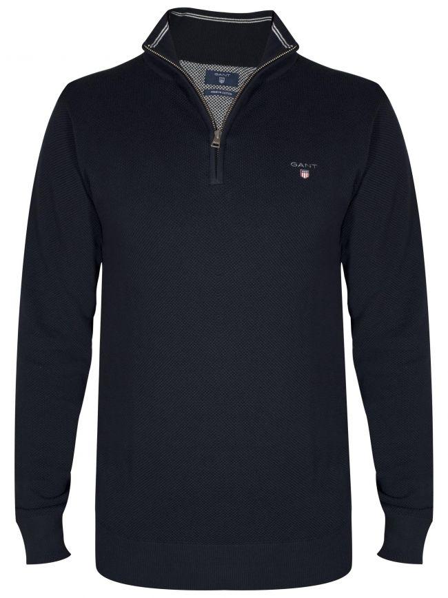 Half Zip Premium Cotton Lightweight Navy Sweatshirt