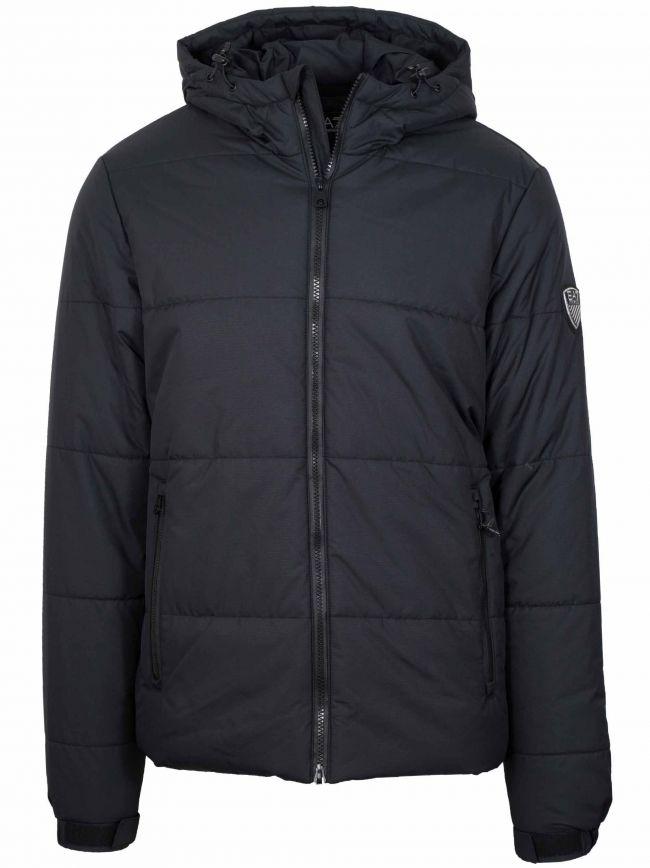 Dark Grey Puffa Jacket