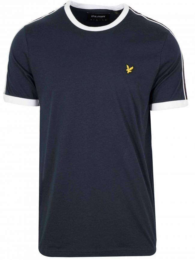 Navy Taping Ringer T-Shirt