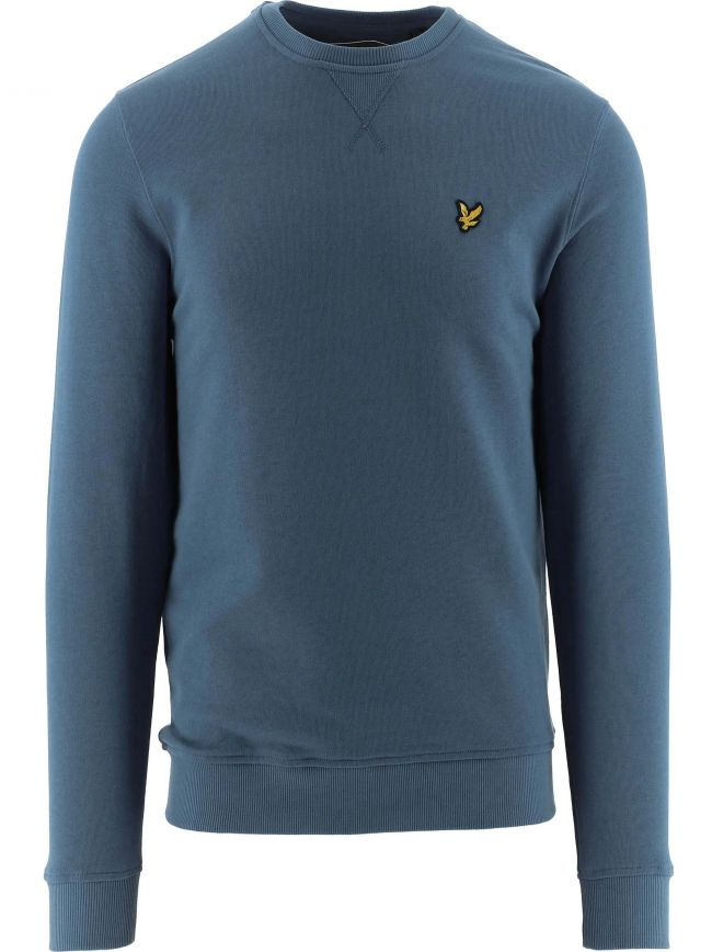 Dark Blue Crew Neck Sweatshirt