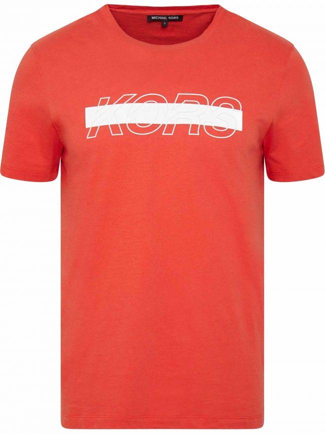 Orange Reflective Logo T-Shirt