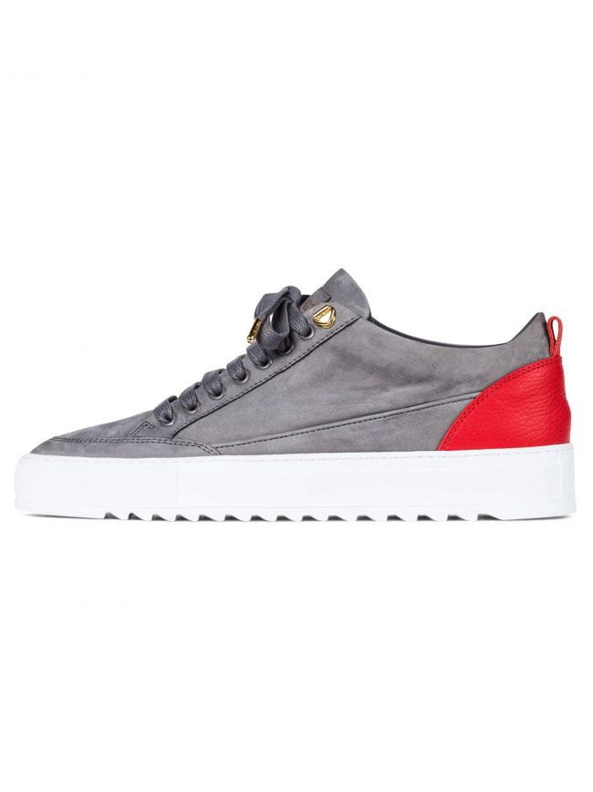 Grey & Red Nubuck Tia Sneaker