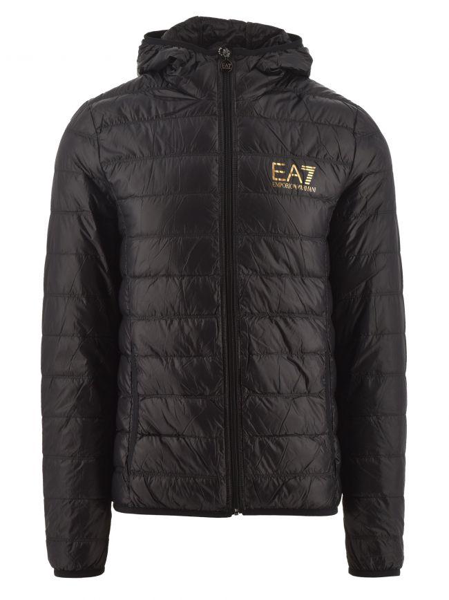 Black & Gold Down Slim Fit Jacket