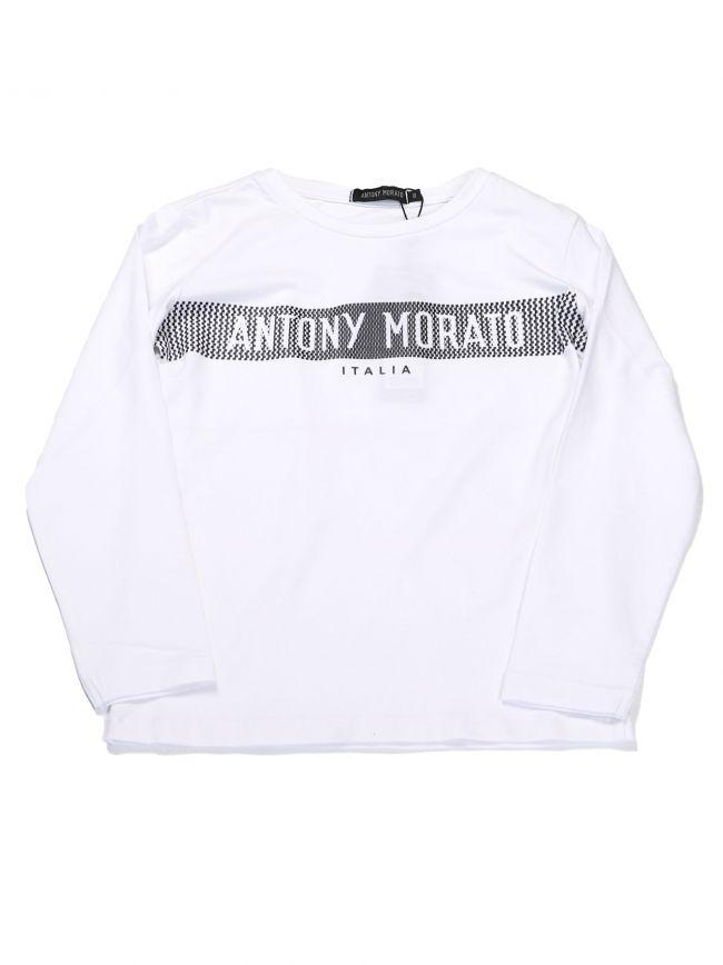 Antony Morato Kids White Logo T-Shirt