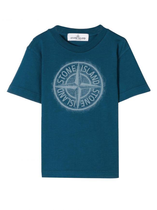 Blue Printed Chest Logo T-Shirt