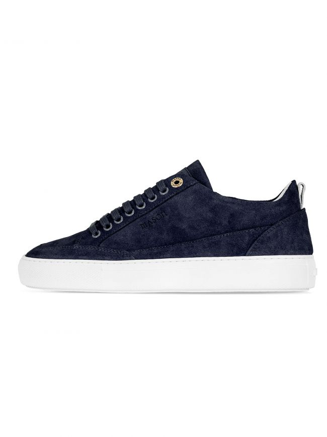 Navy Blue Tia Low Suede Sneaker