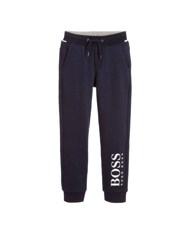 Navy & Grey Cotton Joggers