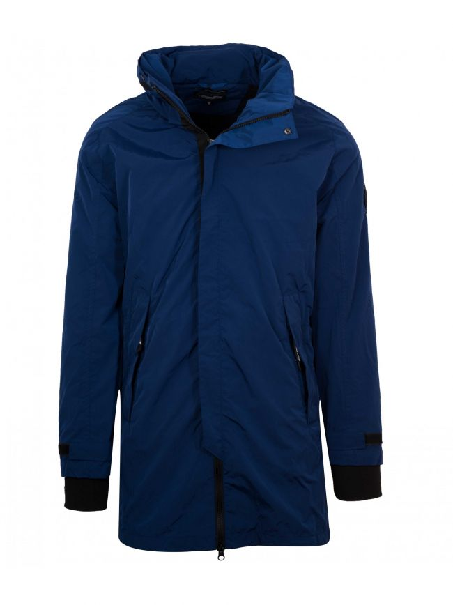 Royal Blue Fishtail Parka