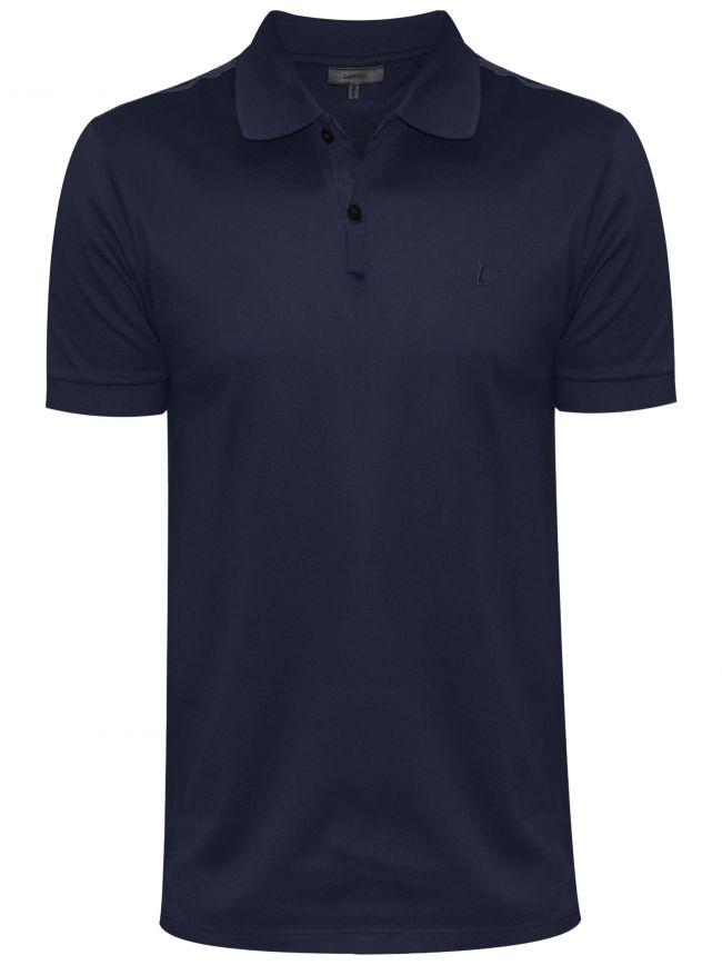 Navy Blue L Slim Fit Piquí© Polo Shirt