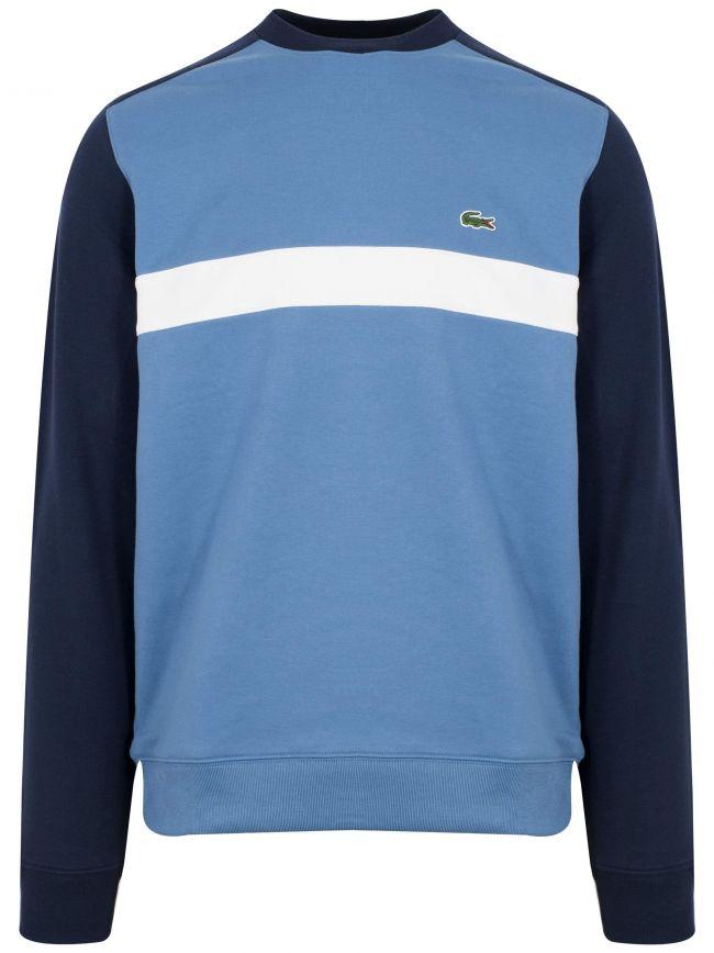Blue Round Neck Sweatshirt