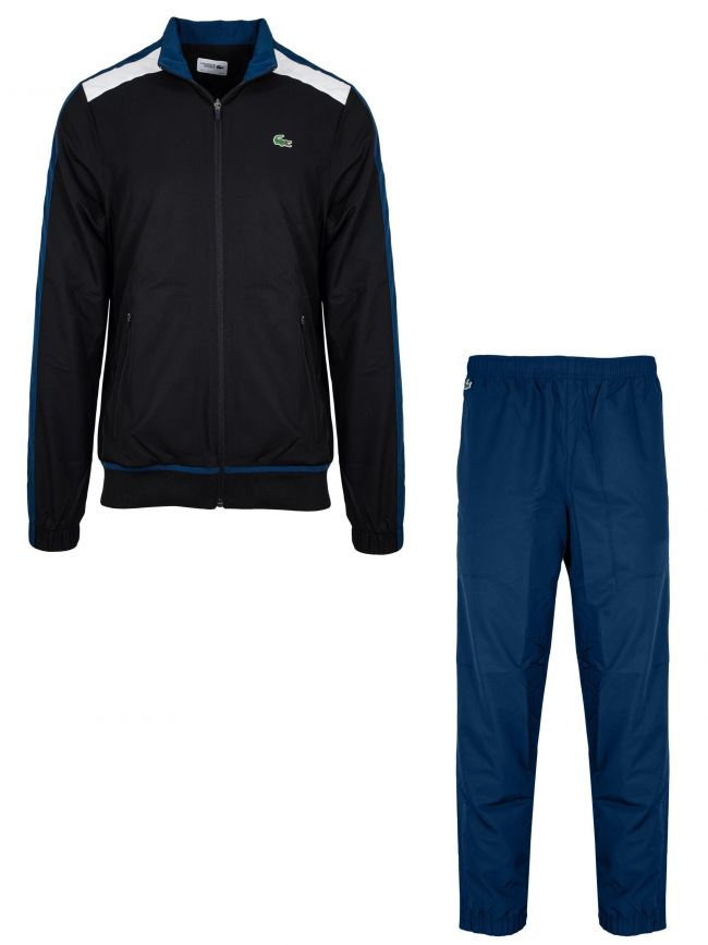 Black & Royal Blue Diamond Tracksuit