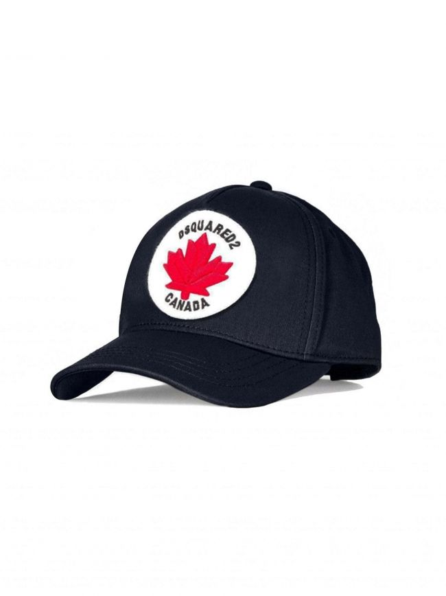 Navy Canada Patch Embroidered Cap