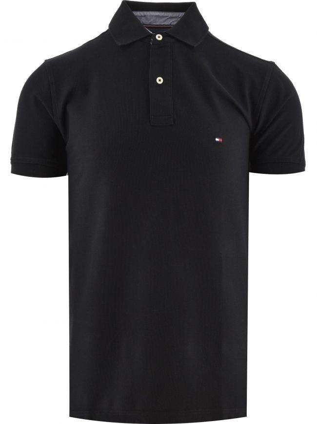 Black Core Hilfiger Regular Fit Polo Shirt