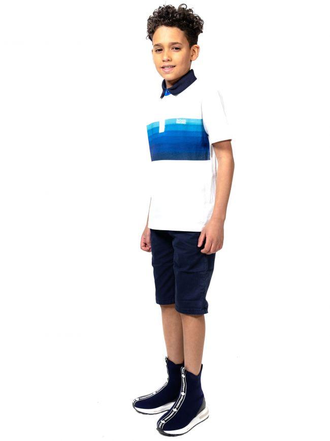 BOSS Kids White Tagged Polo Shirt