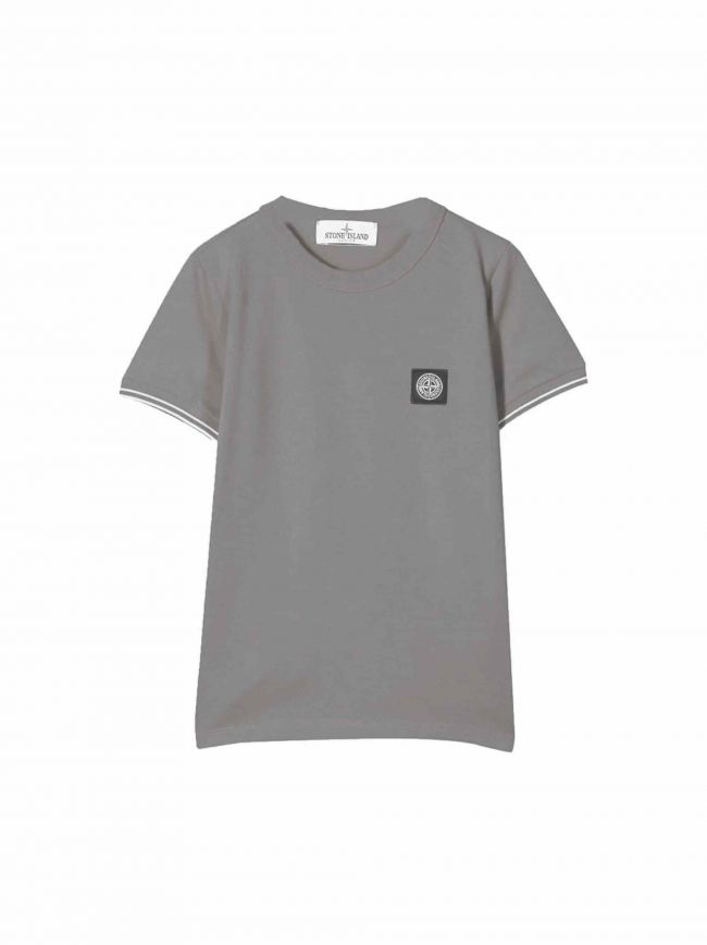 Grey Patch Logo Pique T-Shirt