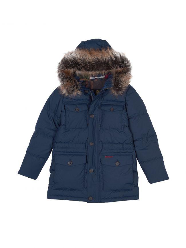 Navy Morton Quilt Jacket
