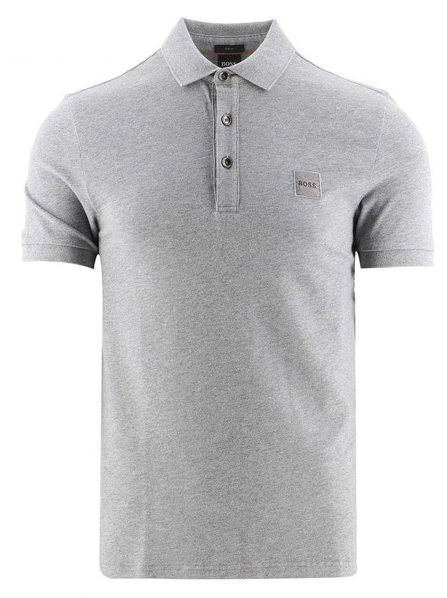 Light Grey Slim Fit Stretch Cotton Passenger 1 Polo Shirt