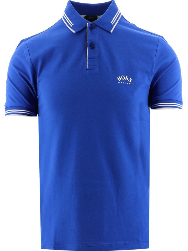 Blue Paul Curved Polo Shirt