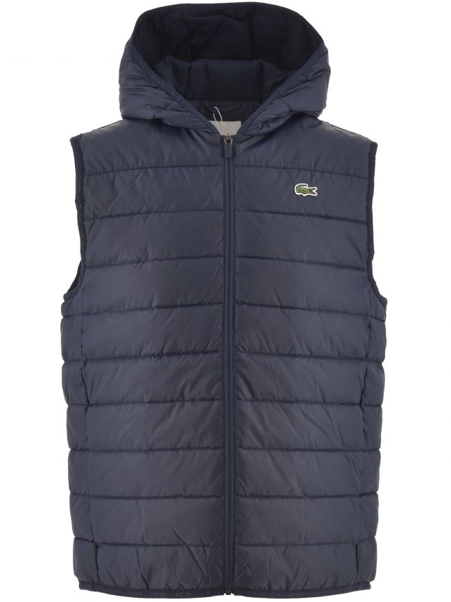 Hooded Water Resistant Ripstop Quilted Vest