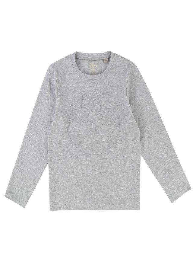 Crew Neck Grey Logo T-Shirt