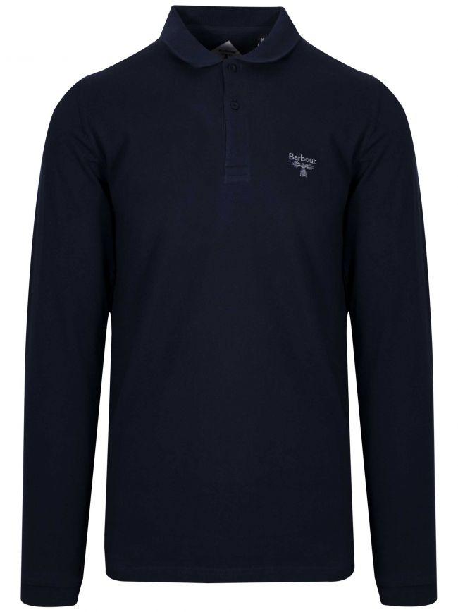 Navy Blue Long-Sleeved Polo