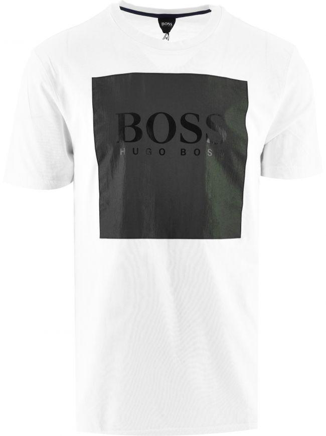 White Iridescent Logo Patch T-Shirt