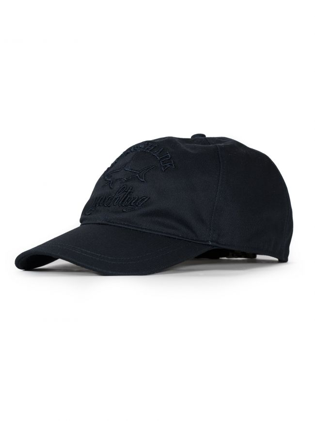 Navy Embroidered Logo Baseball Cap