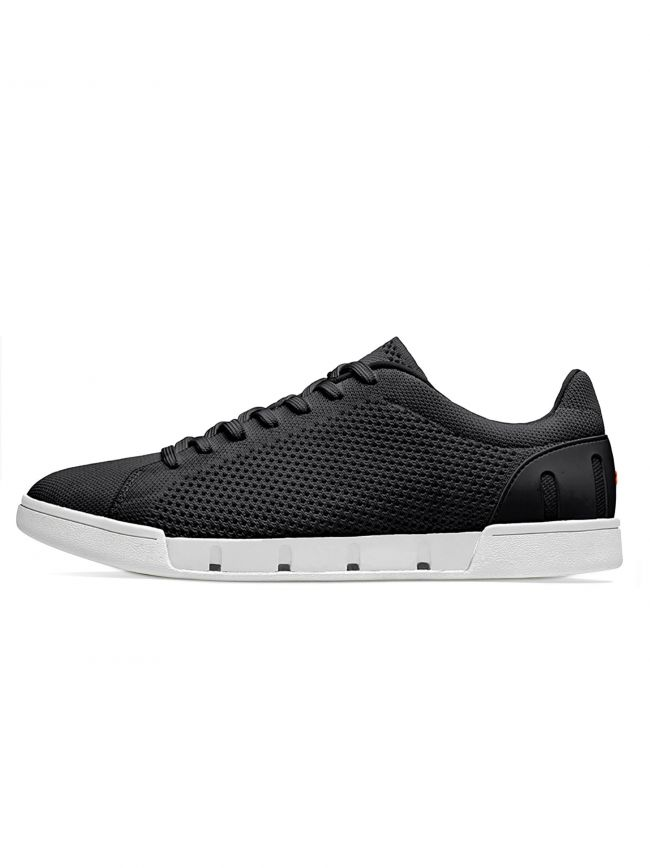 Black and White Breeze Tennis Knit Sneaker