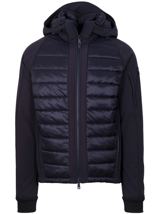 Navy Blue Quilted Soft-Shell Jacket