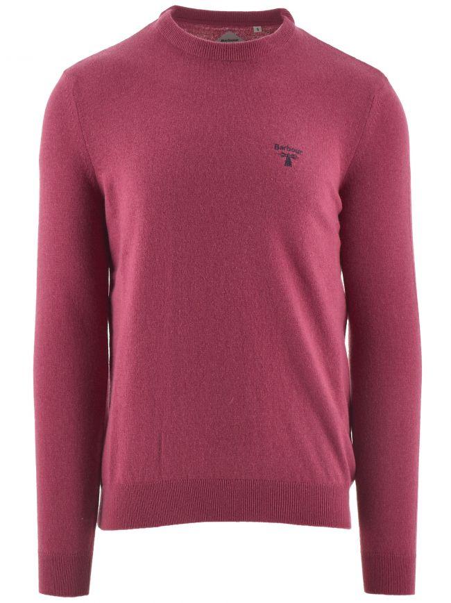 Maroon Logo Crew Knit Sweatshirt