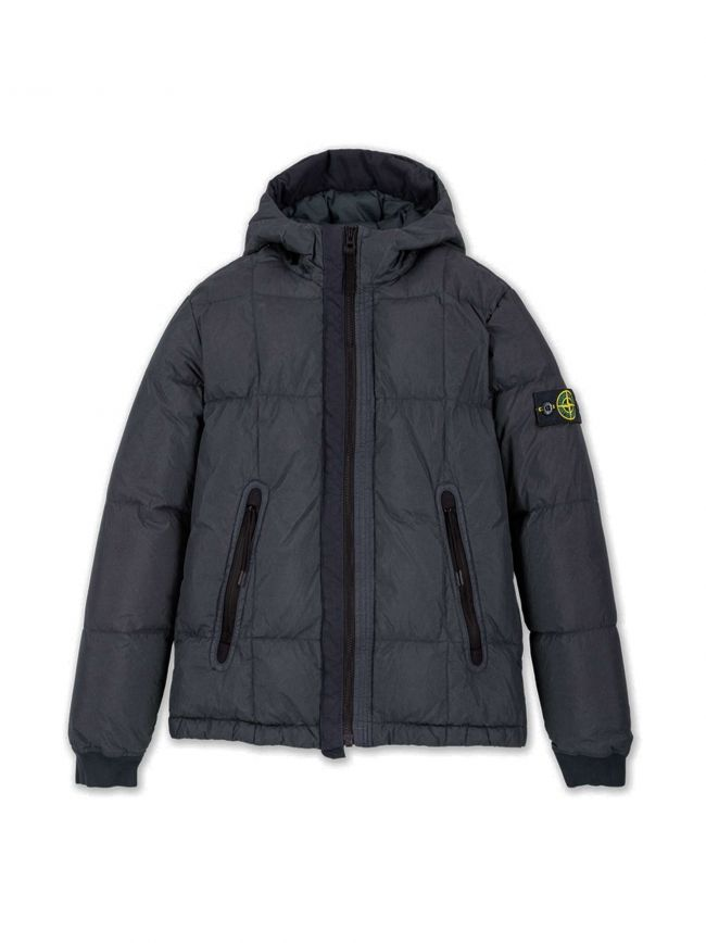 Navy Blue Crinkle Reps Down Jacket