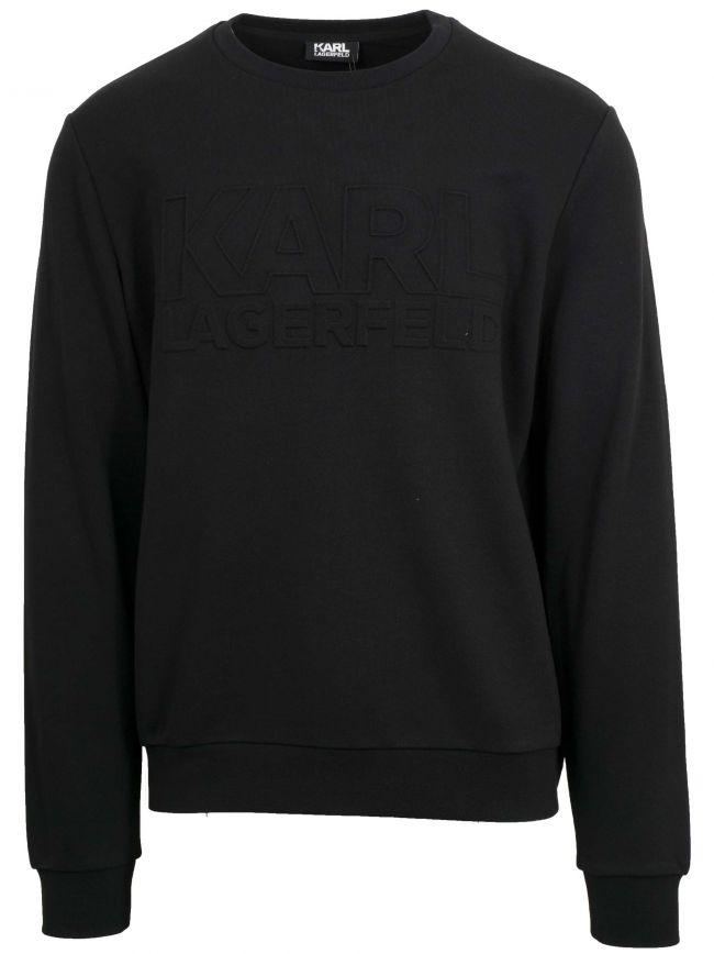 Black Crew Neck Sweatshirt