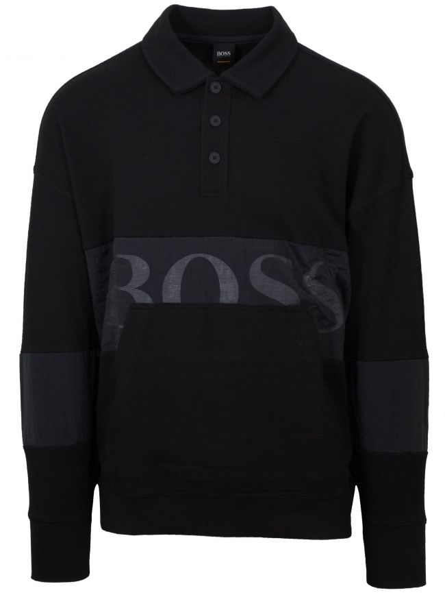 Black Wolton Sweat Top