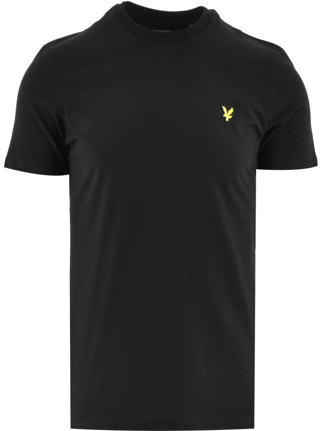 Jet Black Crew Neck T Shirt